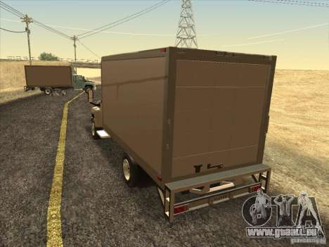 GMC 5500 2001 pour GTA San Andreas sur la vue arrière gauche