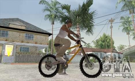 Downhill Bike pour GTA San Andreas sur la vue arrière gauche