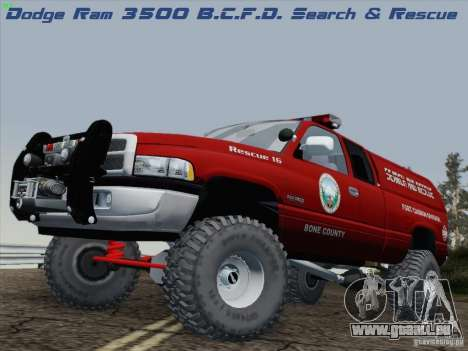 Dodge Ram 3500 Search & Rescue pour GTA San Andreas