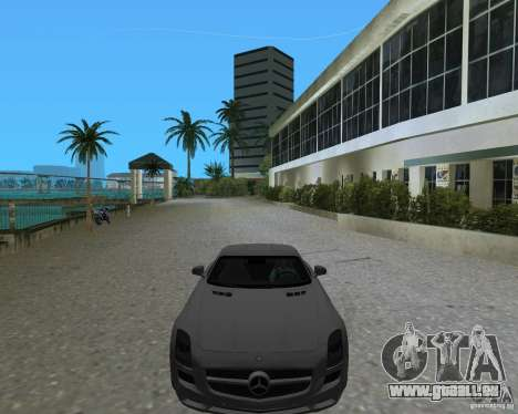 Mercedes Benz SLS AMG pour une vue GTA Vice City de la droite
