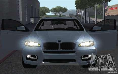 BMW X6M 2013 pour GTA San Andreas vue de droite