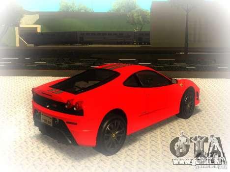 Ferrari 430 Scuderia TT Black Revel pour GTA San Andreas sur la vue arrière gauche