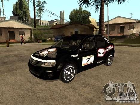 Dacia Logan Rally Dirt pour GTA San Andreas vue de dessous