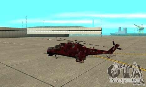 Mi-24 pour GTA San Andreas laissé vue