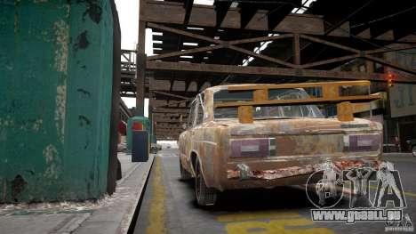 VAZ 2106 Rusty pour GTA 4 est une vue de l'intérieur