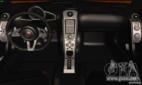 McLaren MP4-12C pour GTA San Andreas vue de côté