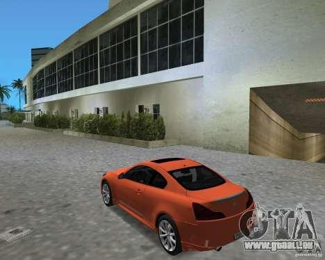 Infinity G37 pour une vue GTA Vice City de la droite