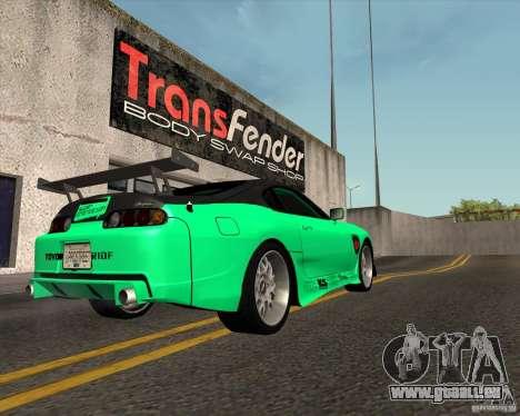 Toyota Supra ZIP style pour GTA San Andreas laissé vue