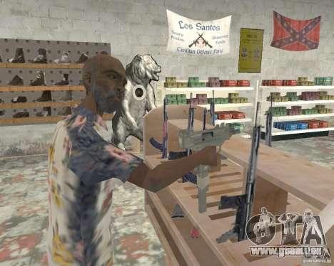 Un animé magasin Ammu-Nation v3 (Final) pour GTA San Andreas troisième écran