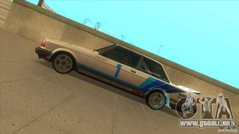 Volvo 240 Turbo Group A für GTA San Andreas linke Ansicht