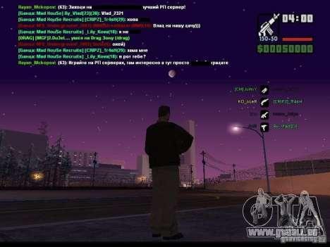 Ciel étoilé v2.0 (pour SA: MP) pour GTA San Andreas cinquième écran