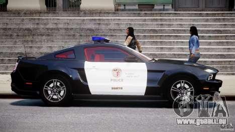 Ford Mustang V6 2010 Police v1.0 pour GTA 4 est une vue de l'intérieur