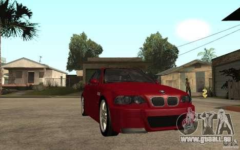 BMW M3 CSL pour GTA San Andreas vue arrière