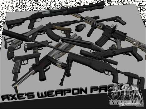 New Weapons Pack für GTA San Andreas