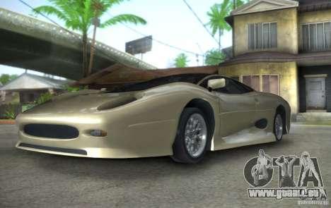 Jaguar XJ 220 Black Rivel pour GTA San Andreas vue arrière