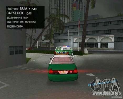 Ford Crown Victoria 2003 Police für GTA Vice City rechten Ansicht