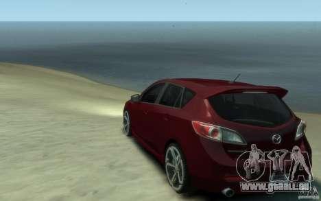Mazda 3 MPS 2010 pour GTA 4 Vue arrière de la gauche