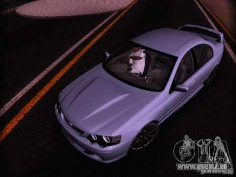 Ford Falcon FPV F6 TYPHOON XR8 2007 pour GTA San Andreas sur la vue arrière gauche