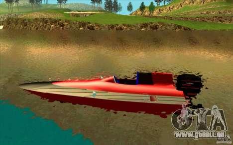Race Boat für GTA San Andreas linke Ansicht