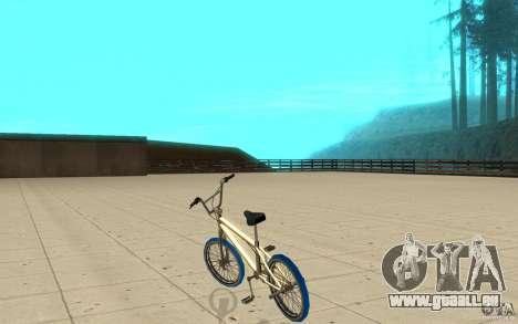 Zeros BMX BLUE tires pour GTA San Andreas sur la vue arrière gauche