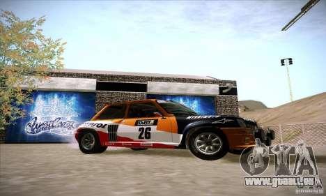 Renault 5 GT Turbo Rally pour GTA San Andreas vue de droite