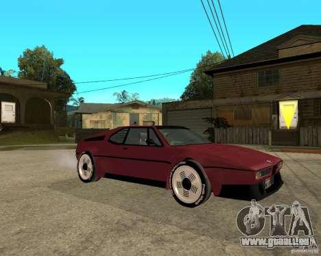 BMW M1 pour GTA San Andreas vue de droite