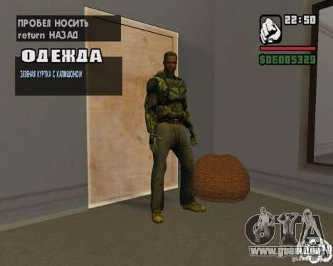 Kleidung aus einem stalker für GTA San Andreas