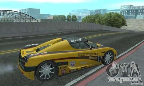 Koenigsegg CCX (v1.0.0) pour GTA San Andreas vue de droite