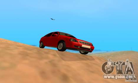 Van LADA priora pour GTA San Andreas sur la vue arrière gauche