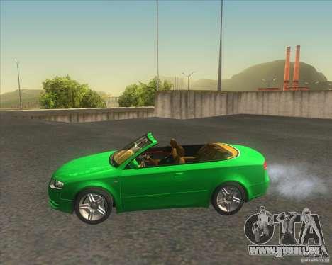 Audi A4 Convertible 2005 pour GTA San Andreas laissé vue