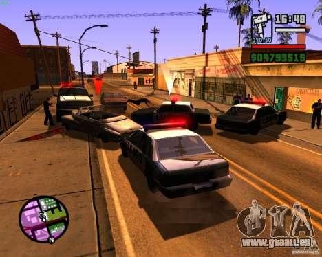 Chassant les machines pour GTA San Andreas