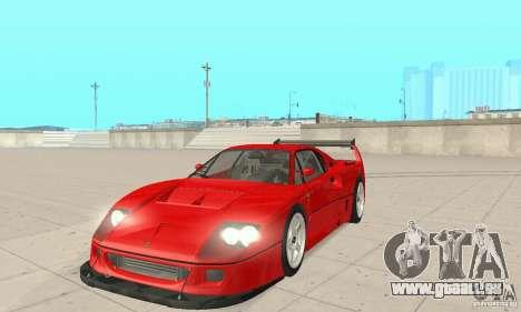 Ferrari F40 Competizione für GTA San Andreas