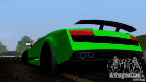 Lamborghini Gallardo LP570-4 Superleggera für GTA San Andreas Innenansicht