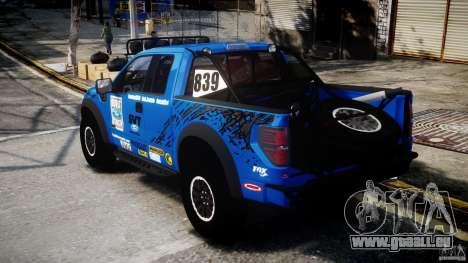 Ford F150 Racing Raptor XT 2011 pour GTA 4 Vue arrière de la gauche
