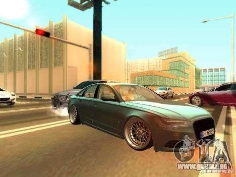 Audi A6 Stanced pour GTA San Andreas laissé vue