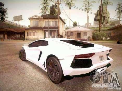 Lamborghini Aventador LP700-4 pour GTA San Andreas laissé vue