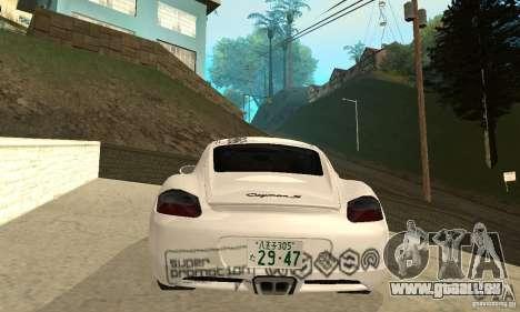 Porsche Cayman S für GTA San Andreas Räder