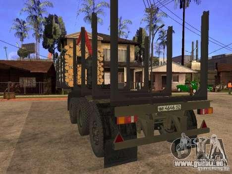 Remorque MAZ 99864 pour GTA San Andreas vue intérieure