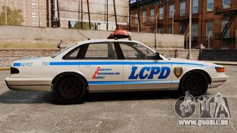 Eine neue Polizei-Kreuzer für GTA 4 linke Ansicht