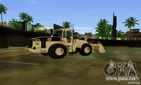 Bouteur CAT pour GTA San Andreas laissé vue