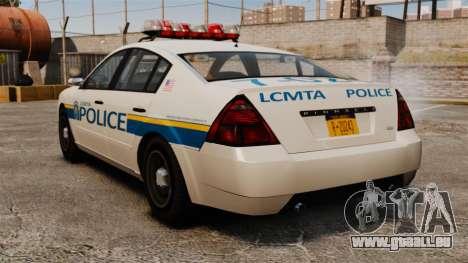 Police Pinnacle ESPA pour GTA 4 Vue arrière de la gauche