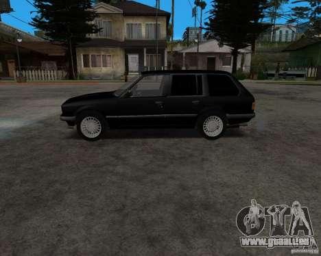 BMW 320i Touring 1989 pour GTA San Andreas laissé vue
