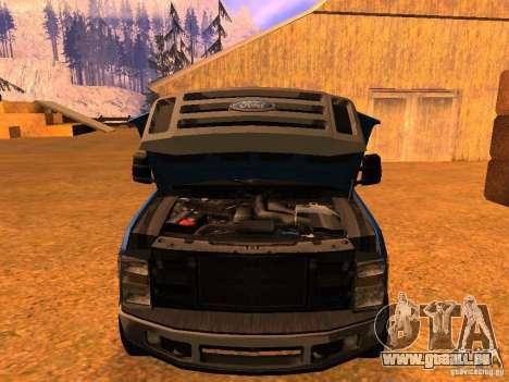 Ford F350 pour GTA San Andreas vue de droite