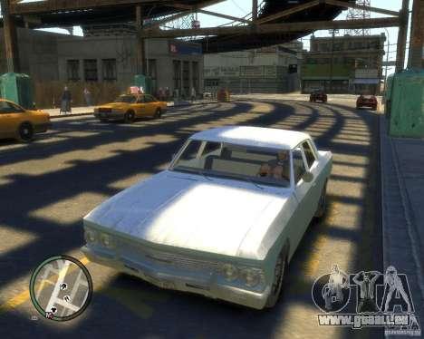Chevrolet Chevelle 1966 pour GTA 4 est une vue de l'intérieur