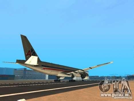 Boeing 777-200 American Airlines pour GTA San Andreas vue de droite