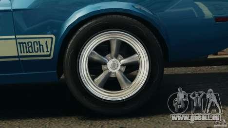 Ford Mustang Mach I 1973 für GTA 4 Rückansicht