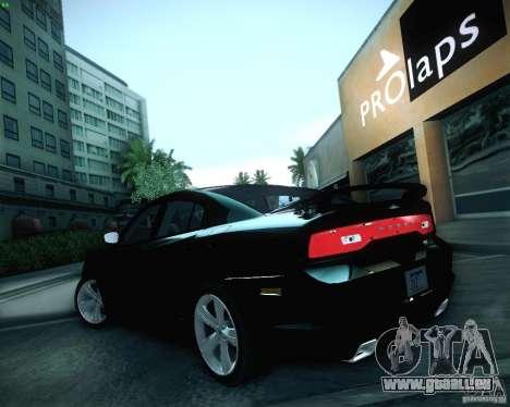 Dodge Charger 2011 v.2.0 pour GTA San Andreas vue de dessus