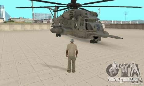 Sikorsky MH-53 für GTA San Andreas Rückansicht