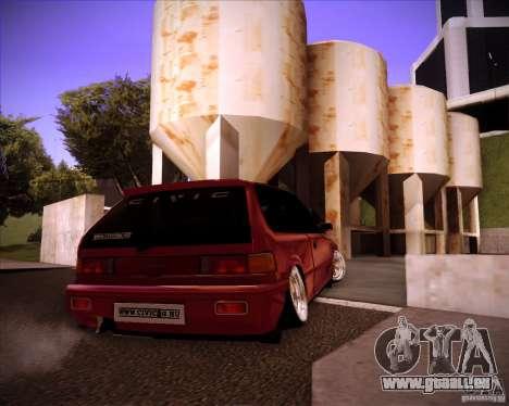 Honda Civic EF9 Hatch Stock pour GTA San Andreas sur la vue arrière gauche
