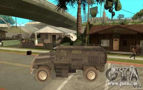 Military Truck für GTA San Andreas linke Ansicht